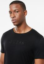 GUESS - Pima embroidered logo tee - black