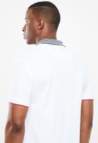 POLO - Ethan custom fit short sleeve stripe collar golfer - multi
