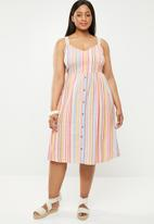 New Look - Strappy stripe midi dress - multi