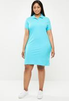 POLO - Plus size Kathy stretch golfer dress - turquoise