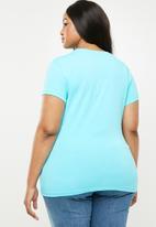 POLO - Plus size  allie pony stretch tee - turquoise