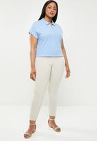 POLO - Plus size  eva zip detail golfer - blue