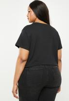 Cotton On - Curve graphic tee versailles - black