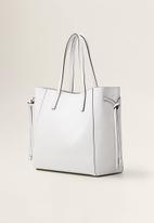 MANGO - Pebbled shopper bag - white