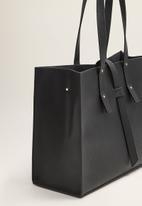 MANGO - Strap shopper bag - black