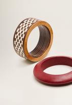 MANGO - Pack wooden bracelets - multi
