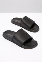 Cotton On - Faux leather slide - black