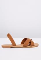 Cotton On - Faux leather sandal - tan