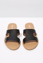 Cotton On - Faux leather slides - black