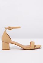 Cotton On - Lola low block heel - neutral