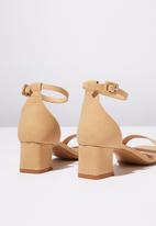 Cotton On - Faux leather block heels - neutral