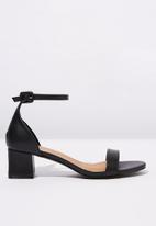 Cotton On - Faux leather block heels - black