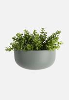 Present Time - Oval wall planter wide - green