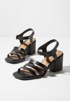 Cotton On - Faux leather block heels - black