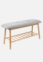 Present Time - Bamboo bench - grey