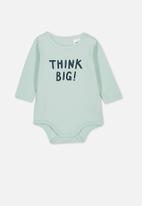 Cotton On - The long sleeve bubbysuit - green