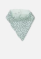 Cotton On - The kerchief bib - turquoise