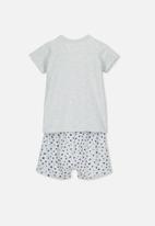 Cotton On - Harpa short sleeve pj set - grey