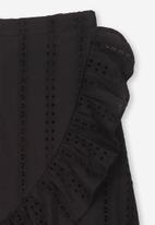 Cotton On - Raquel ruffle midi skirt - black