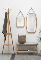 Present Time - Idyllic bamboo mirror large - natural