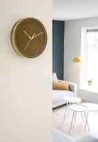 Present Time - Lush velvet wall clock - caramel brown