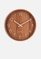 Present Time - Pure wall clock small - dark basswood