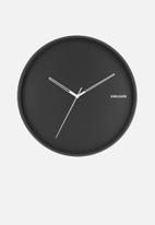 Present Time - Hue metal wall clock - black