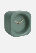 Present Time - Chunky polyresin alarm clock - green