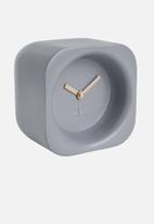 Present Time - Chunky polyresin alarm clock - mouse grey