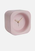 Present Time - Chunky polyresin alarm clock - light pink