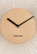 Present Time - Peony steel wall clock - gold