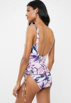 Jacqueline - Maternity Side detail swimsuit - pink