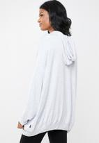 Cotton On - Maternity long line spring hoodie  - grey