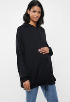 Cotton On - Maternity long line spring hoodie  - black