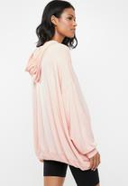 Cotton On - Maternity long line spring hoodie  - pink