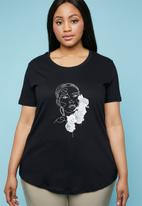 Superbalist - Placement printed T-shirt - black
