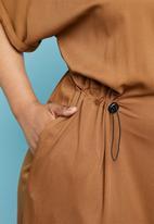 Superbalist - Utility shirt dress - rust