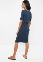 New Look - Maternity Nursing layer dress - navy
