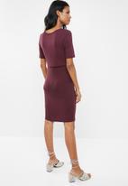 New Look - Maternity Nursing layer dress - burgundy