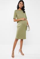 New Look - Maternity Nursing layer dress - khaki
