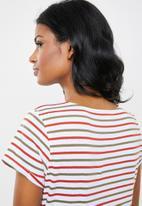 New Look - Maternity Short sleeve stripe tee - multi
