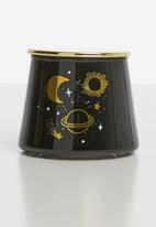 Typo - Angled candle - black & gold