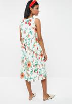 Superbalist - Frill shirt floral dress - white