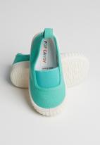 POP CANDY - Canvas slip on mid  - green