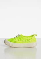 POP CANDY - Mesh  lace up sneaker - yellow