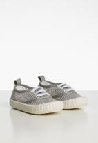 POP CANDY - Mesh lace up sneaker - grey