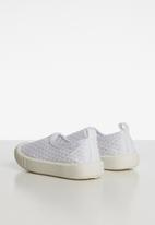 POP CANDY - Mesh  slip on - white