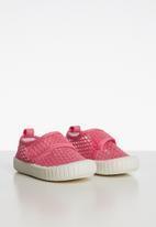 POP CANDY - Velcro strap mesh sneaker - pink