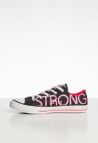 Converse - Chuck taylor all star ox - black, racer pink & white