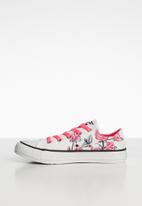 Converse - Chuck taylor all star ox - white, racer pink & black